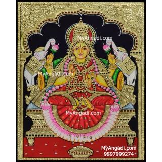 Gajalakshmi Tanjore Painting