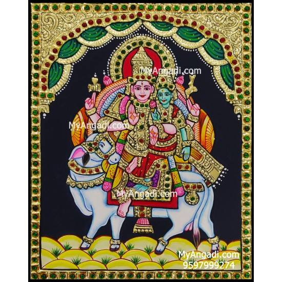 Pradosha Sivan Paravathi Tanjore Painting