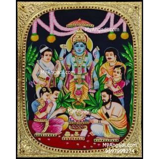 Satya Narayana Swami Tanjore Painting
