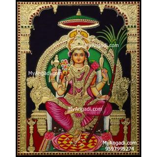 Lalitha Tripura Sundari Tanjore Painting