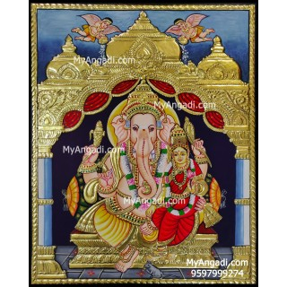 Siddhi Ganesha Tanjore Painting