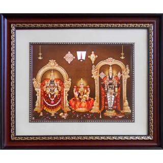 Lord  Thirupathi Balaji with Badmavathi Amman Frame Big