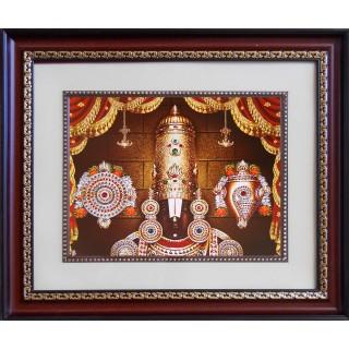 Lord  Thirupathi Balaji Face Photo Frame Big