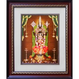 Lord  Thirupathi Balaji with Lakshmi Face Photo Frame Big