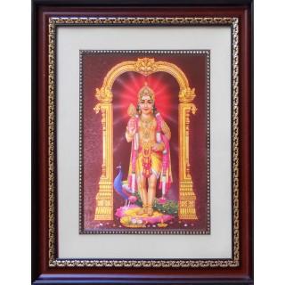 Lord  Murugan Photo Frame Big