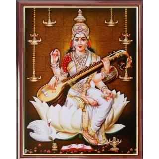 Lord Saraswathi Photo Frame Big