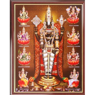 Lord  Perumal with Ashtalakshmi Photo Frame Big