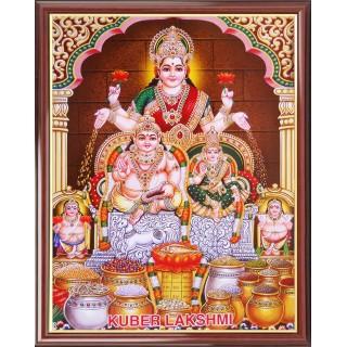 Lord  Lakshmi Kuberar Photo Frame Big