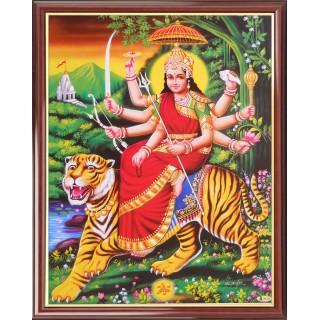 Lord  Durga Photo Frame Big
