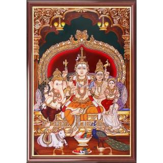 Lord  Shiva Family Photo Frame Big
