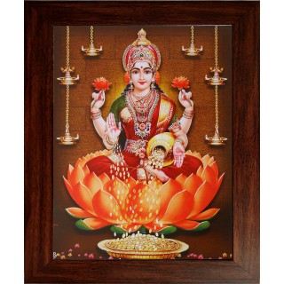 Lord Lakshmi Photo Wooden Photo Frame