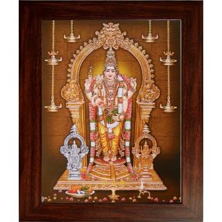 Lord Murugan Photo Wooden Photo Frame