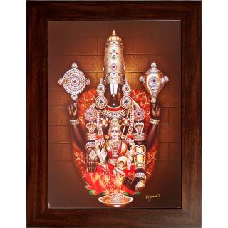 Lord Venkatachalapathi Wooden Photo Frame