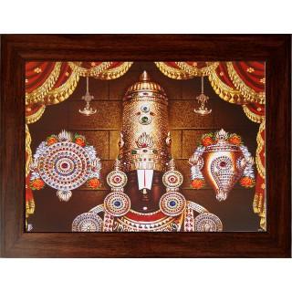 Lord  Thirupathi Balaji Face Wooden Photo Frame