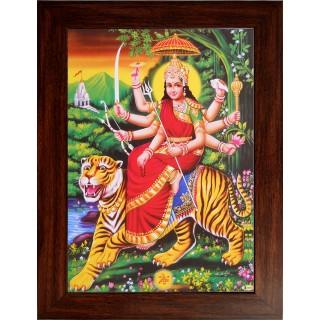 Lord  Durga Wooden Photo Frame