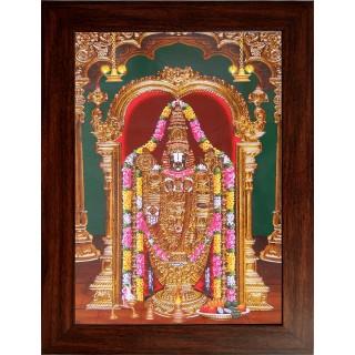 Lord  Thirupathi Balaji Wooden Photo Frame