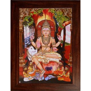 Lord  Dakshinamoorthy Wooden Photo Frame