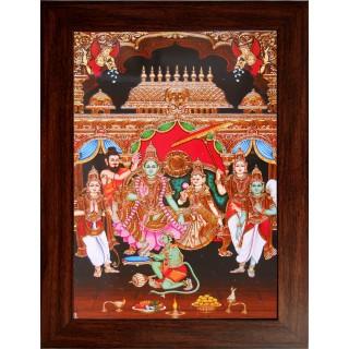 Lord  Ramar Pattabishegam Wooden Photo Frame