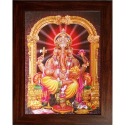 Lord  Ganesha Wooden Photo Frame