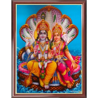 Vishnu Lakshmi Photo Frame