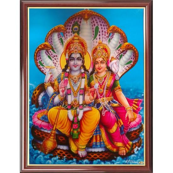 Vishnu Lakshmi Photo Frame
