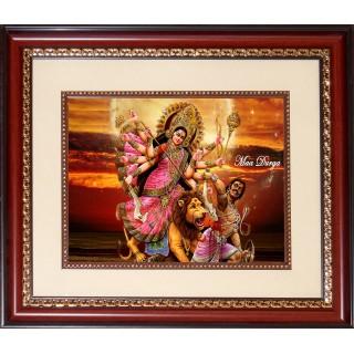 Goddess Durga Photo Frame Big