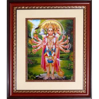 Pancha Muga Hanuman Photo Frame Big