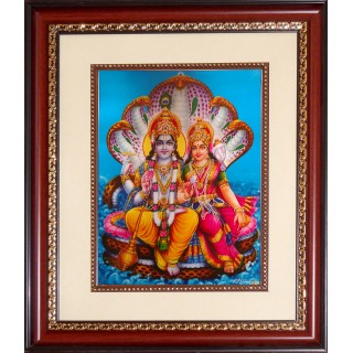 Vishnu Lakshmi Photo Frame Big
