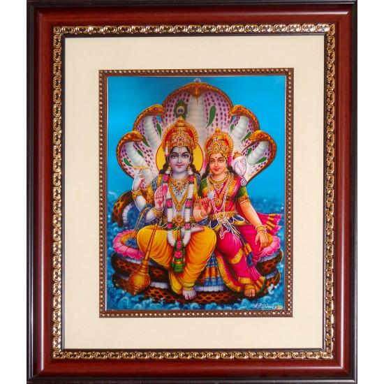 Vishnu Lakshmi Photo Frame Big