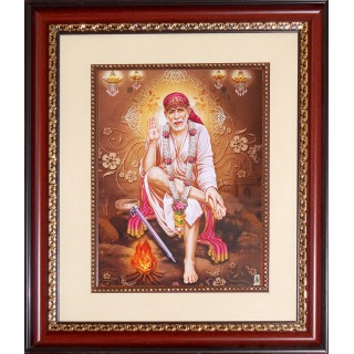 Shirdi Sai Baba Photo Frame Big