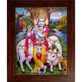 Krishna with Cow Photo Frame