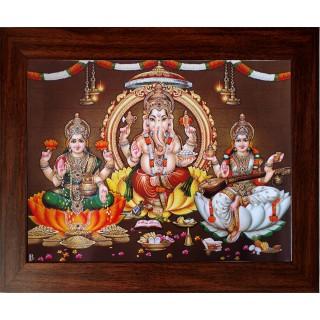 Lakshmi Ganesha Saraswathi Photo Frame