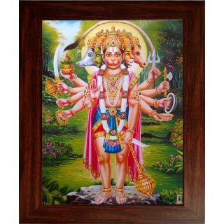 Pancha Muga Hanuman Photo Frame