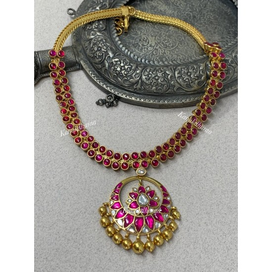 Kanakdharaa - Double Layered Pure Silver Necklace with Gold Polish