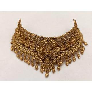 Kanakdharaa - Pure Silver Choker Necklace with Gold Polish