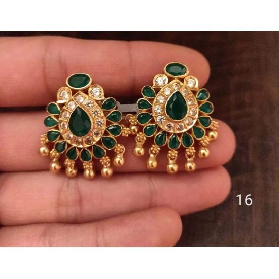 Kanakdharaa - Pure Silver Gold Polished Earrings Jhumukka