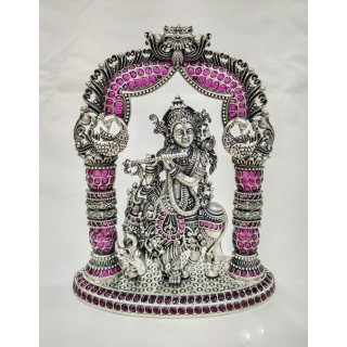 Krishna Silver Idol