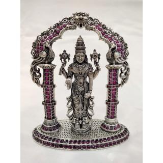 Vishnu Silver Idol