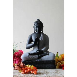 Meditating Buddha Stone Finish - 18 inches