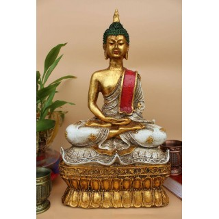 Meditating Buddha Stone Finish - 12 inches