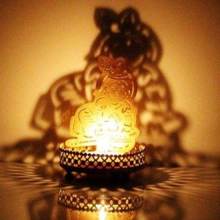 Krishna Shadow Lamp / Diyas
