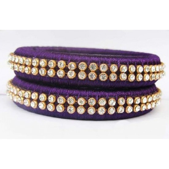Violet Silk Thread Bangle