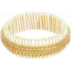 White Gold Silk Thread Bangle