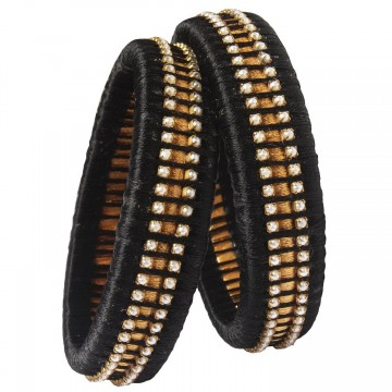 Black Silk Thread Bangle