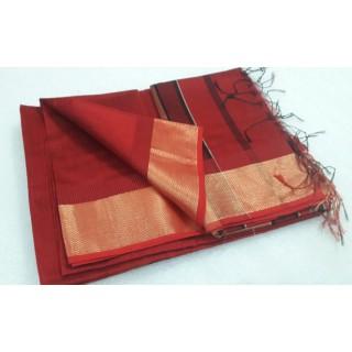 Red Silk Cotton Sareec