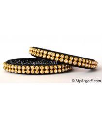 Black Colour Silk Thread Bangles-2 Set