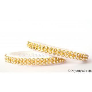 White Colour Silk Thread Bangles