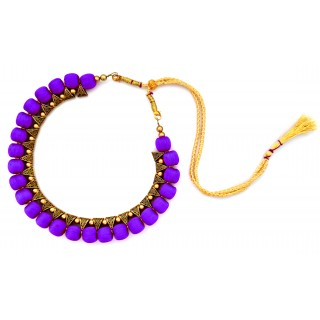 Youth Violet Silk Thread Necklace