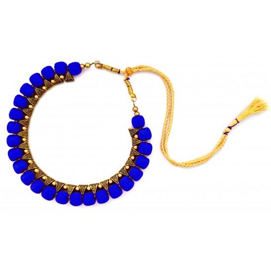 Youth Royal Blue Silk Thread Necklace