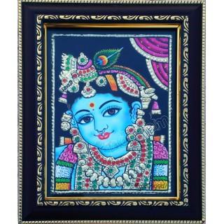 Baby Krishna Tanjore Paintings